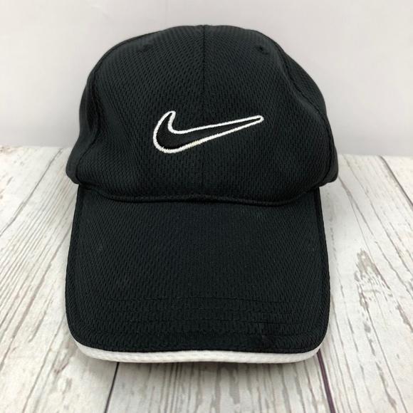100b1477b0388 Nike Accessories   Adjustable Golf Hat Cap Black White One Size ...
